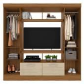 ROCH LTDA - Closet TV Concepcion 182x47x184 Castaño Avellana