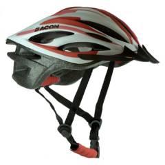 ACON - Casco Bike Matt White-Red
