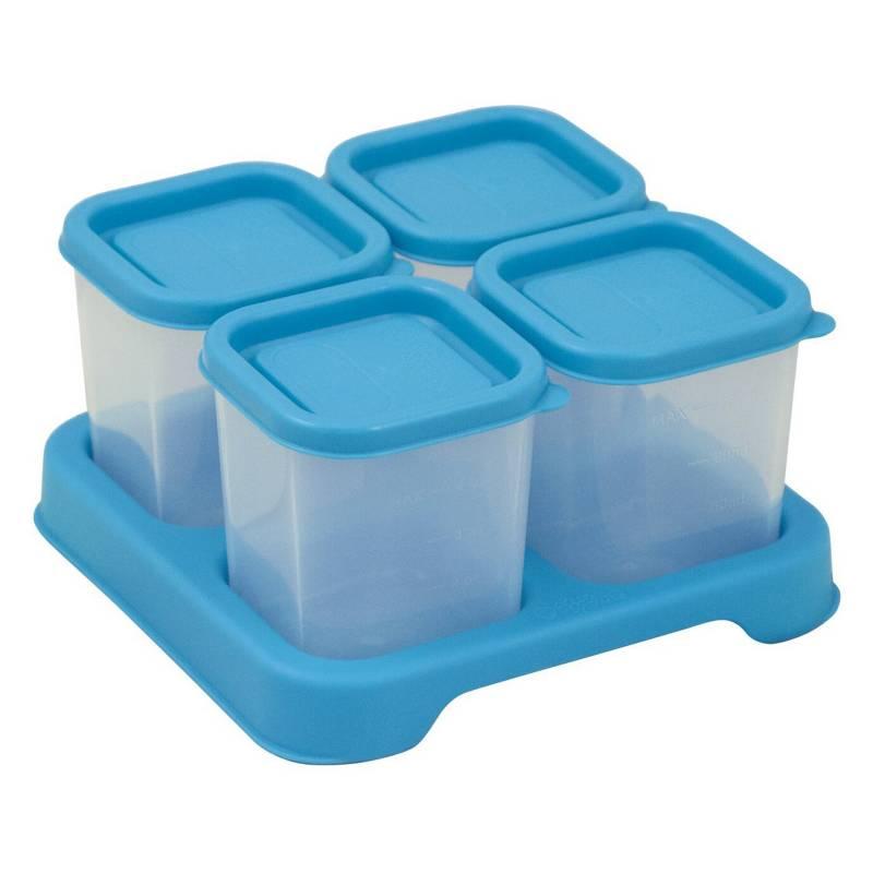 GREEN SPROUTS - Envases de Plástico 120ml Celeste