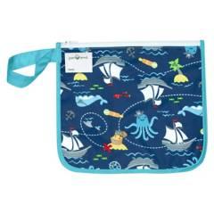 GREEN SPROUTS - Bolsita Reusable Snack Bag Azul Pirata
