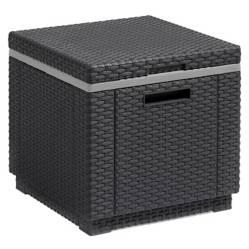 Keter - Mesa para Terraza Frapera Cooler O Puff Ice Cube