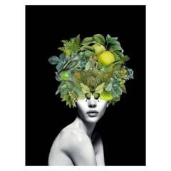 ARTE ONLINE - Cuadro Mascara Verde