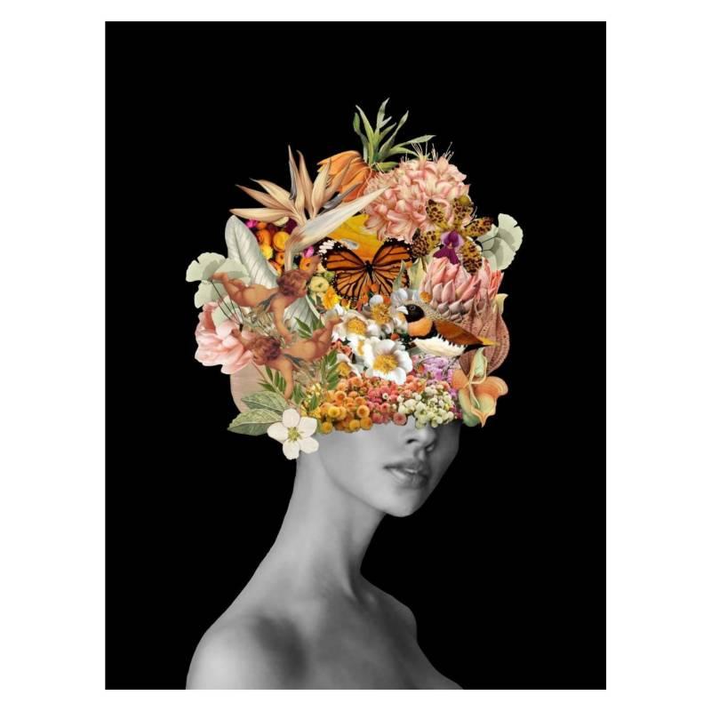 ARTE ONLINE - Cuadro Mascara Naranja