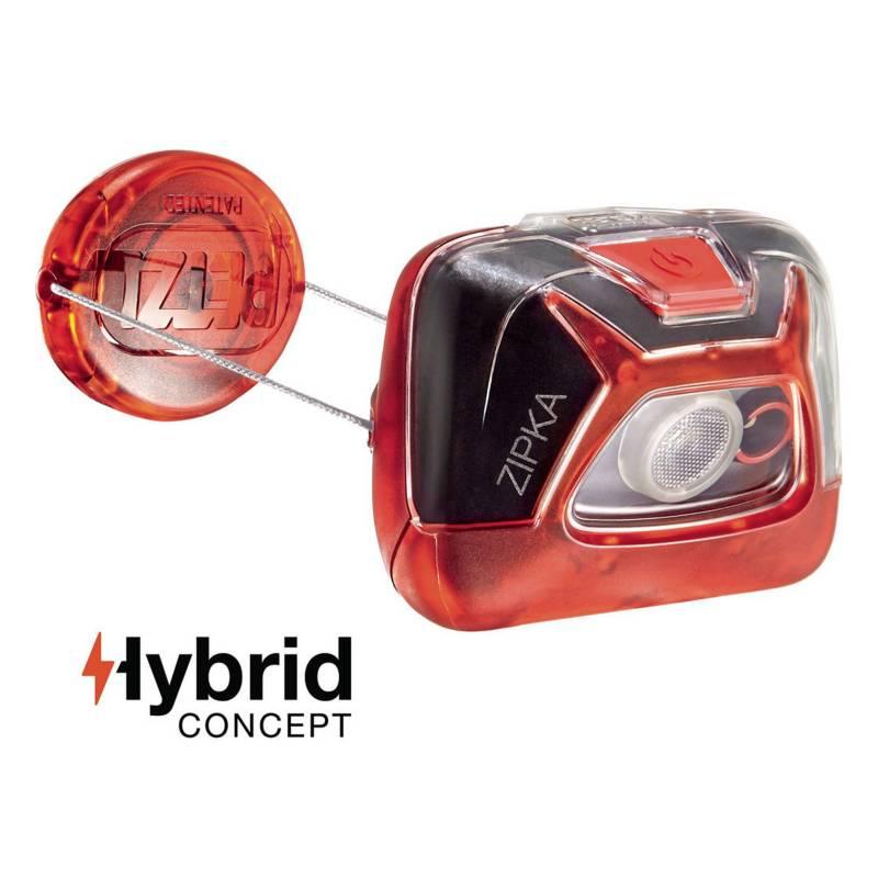 Petzl - Linterna Frontal Compacta Zipka Color Rojo