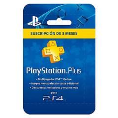 PLAYSTATION - Tarjeta Playstation Plus 3 Meses Sony (Cuenta A.)