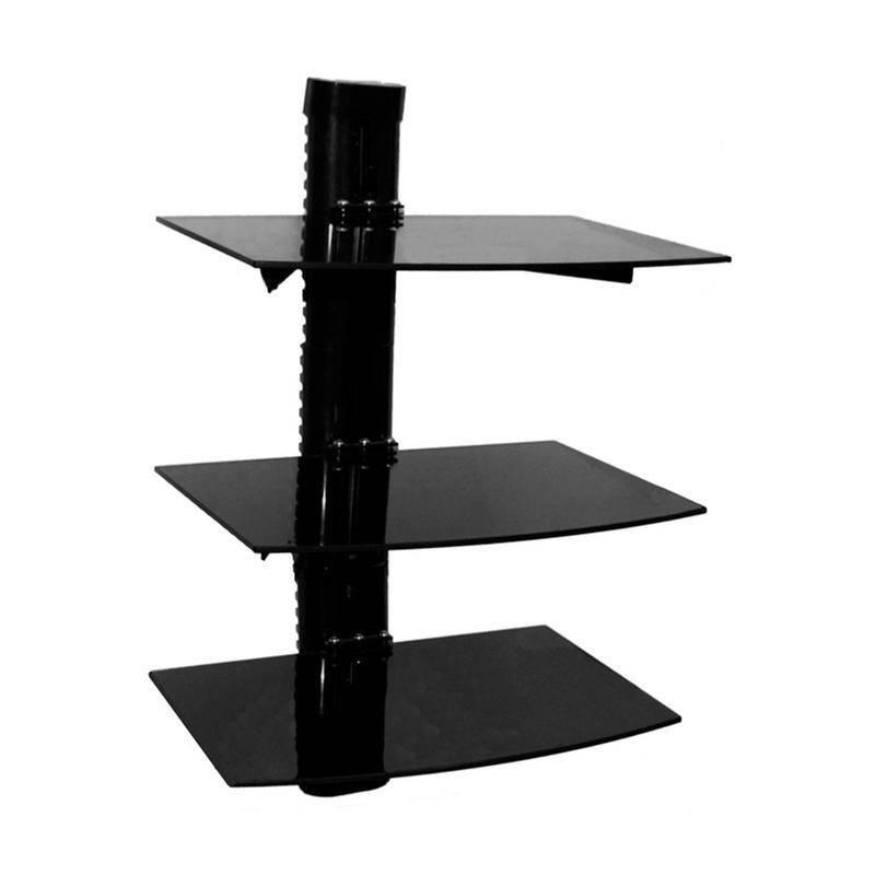 Soporte Vidrio Triple a Muro 36x25 cm 8 kg