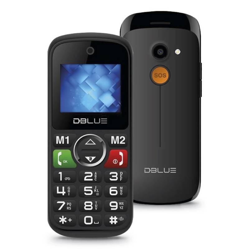 Dblue - Teléfono Senior Básico Dbtls16Bk.