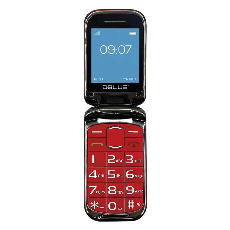 Dblue - Teléfono Senior Almeja Pocket Dbtls18R.