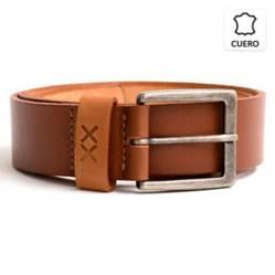 BESTIAS - Cinturon Cuero Hombre Cafe Trb Cafe