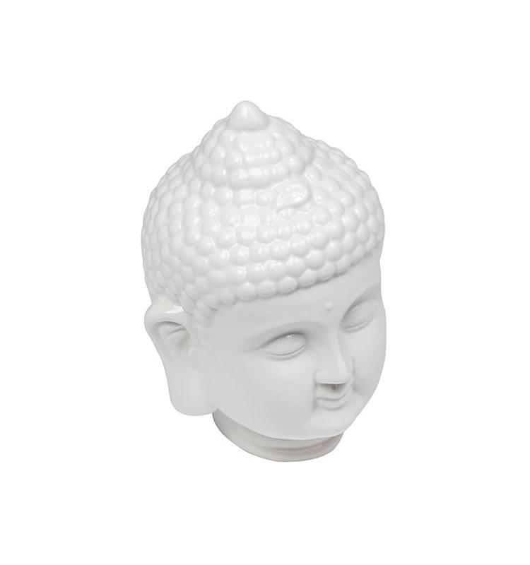 Sohogar - Estatua Cerámica Cabeza Budha 14x15x18 cm