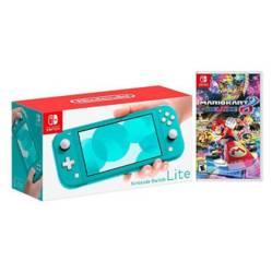 Kit Nintendo Switch Lite Turquesa y Mario Kart 8 D