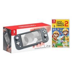 Kit Nintendo Switch Lite Gris y Super Mario Maker