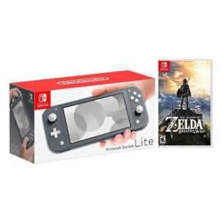 Kit Nintendo Switch Lite Gris y Zelda: Breath