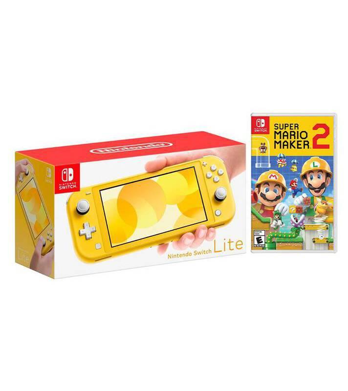Nintendo - Kit Nintendo Switch Lite Amarillo y Super Mario
