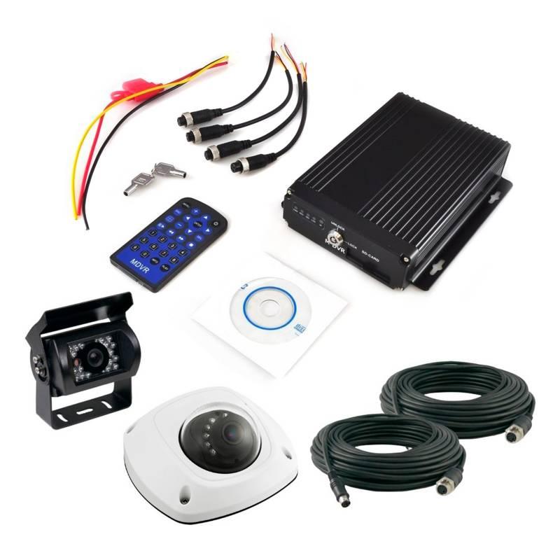 XPROHD - Kit Grabador Seguridad Automóvil 2 Cámaras MSD32GB