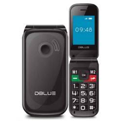 Celular Senior Dual Sim Negro Chip Wom