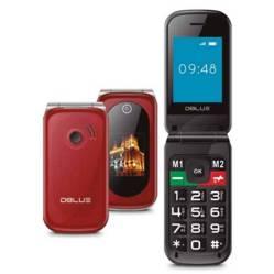 Celular Senior Dual Sim Rojo Chip Wom