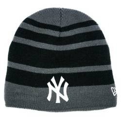 Beanie New Era Stripes Ney York Yankees Black