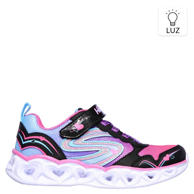cubo Máxima cada vez  Skechers Heart Lights Zapatilla Luces Niña Rosada - Falabella.com