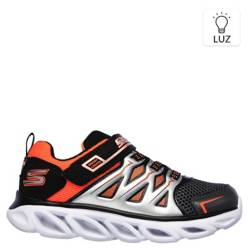Skechers - Hypno-Flash 3.0 Zapatilla Luces Niño Negra