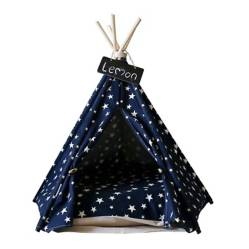 GROWME - Carpa Tipi Mascota Gato Perro Night Stars