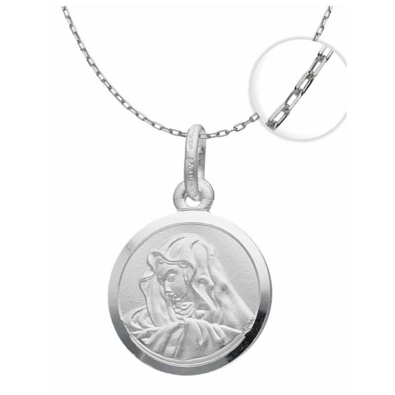TODOJOYAS - Collar Medalla Virgen Maria Plata Fina 925