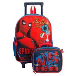 Mochila + Lonchera con Ruedas Spiderman
