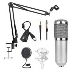 Fiddler - Kit Micrófono Condensador C Brazo Y Tarjeta Sonido