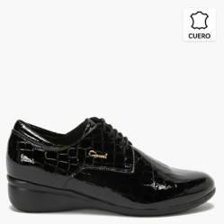 Zapato Casual Mujer Cuero Negro