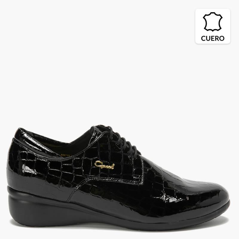 Gacel - Zapato Casual Mujer Cuero Negro
