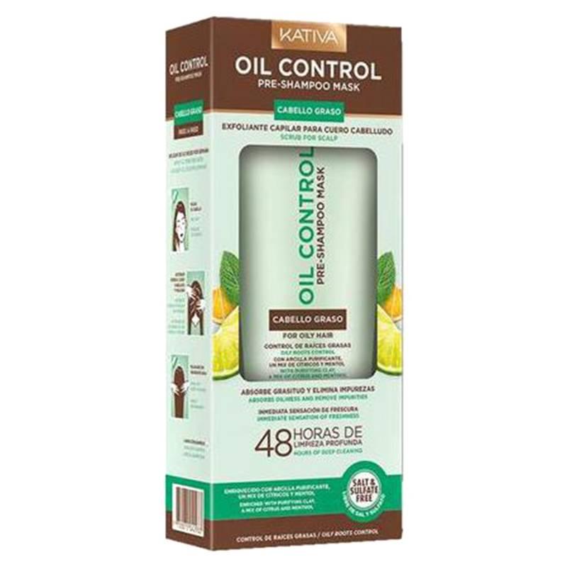KATIVA - Exfoliante Pre Shampoo Kativa Oil Control 250 Ml