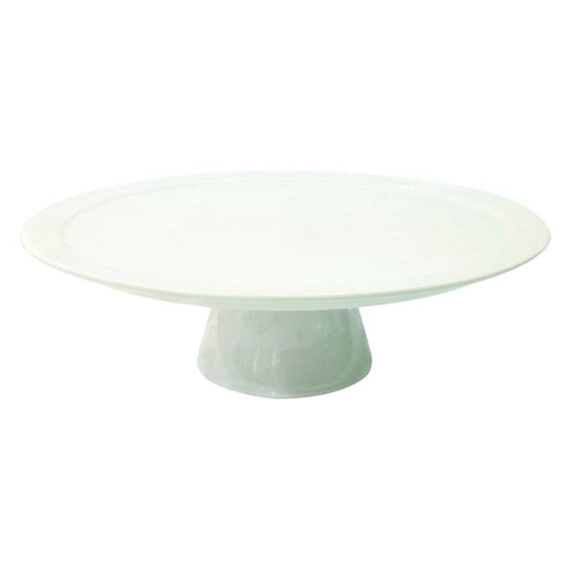 Sohogar - Plato Torta de cerámica color blanco de 35x25x12