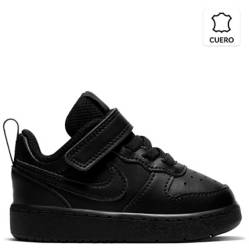 Nike - Court Borough Low 2 (Tdv) Zapatilla Unisex Cuero Negra