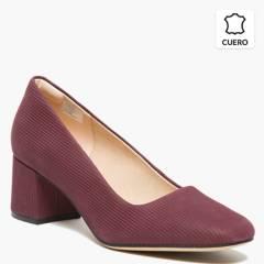 CLARKS - Zapato Formal Mujer Cuero Burdeo