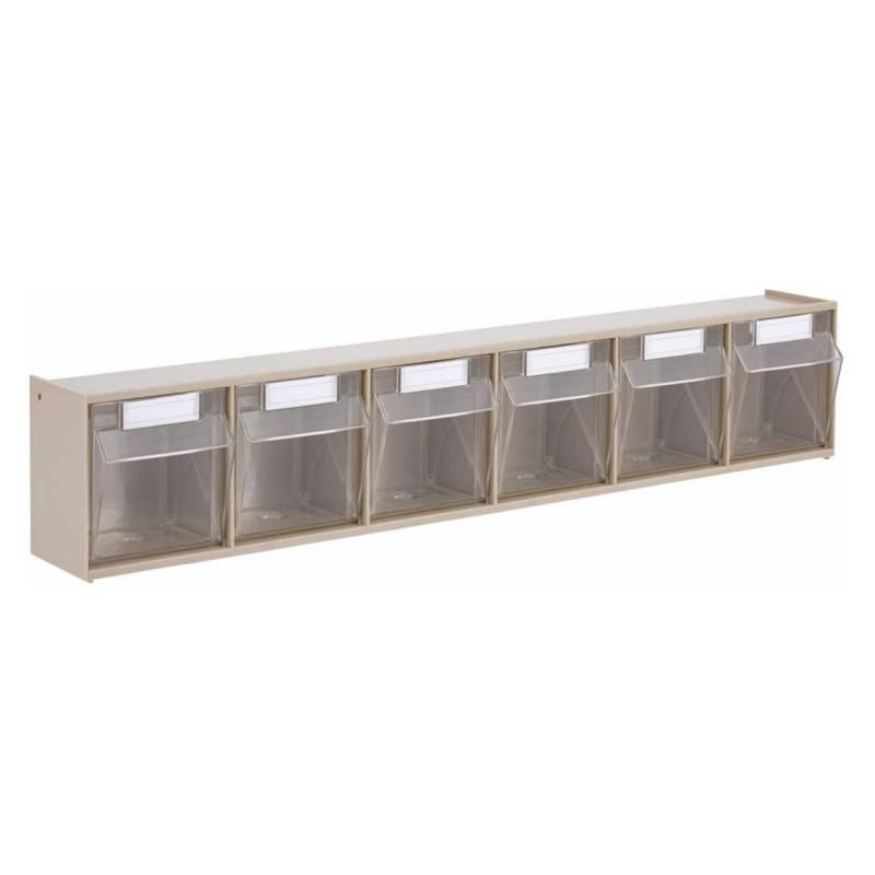 AUTORODEC - Organizador De 6 Cajas Transparentes 60X91X113Cm