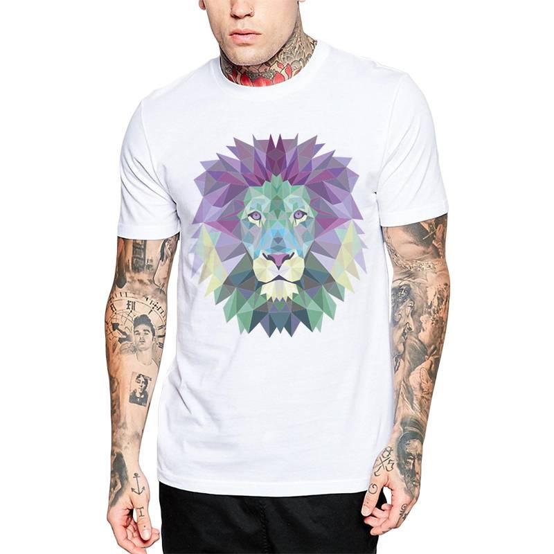 GET OUT - Polera Polygonal Lion.