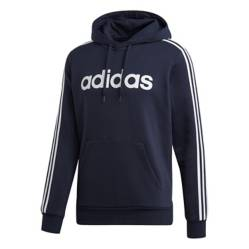 Adidas - Polerón Hoodie azul E 3S PO FL Hombre