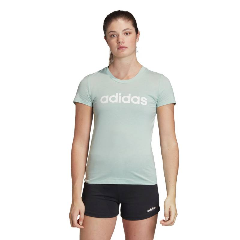 Adidas - Polera manga corta blanca  W E LIN SLIM Mujer