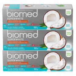 Pack 3 Pasta Dental Biomed Superwhite 100Gr