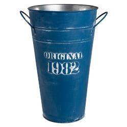 Sohogar - Balde De Latón Azul 30 Cm