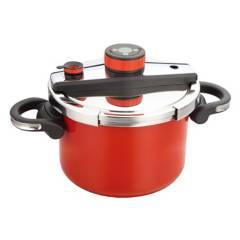 SIMPLE COOK - Olla Presión Simple Cook Avignon Roja 6 Litros