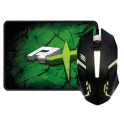 REPTILEX - Kit Gamer Pro Mouse Iluminado    Mouse Pad / K