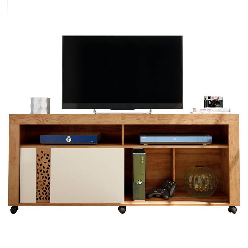 ROCH LTDA - Rack Tv-Video Modelo Joy M-1215 Color Tabaco