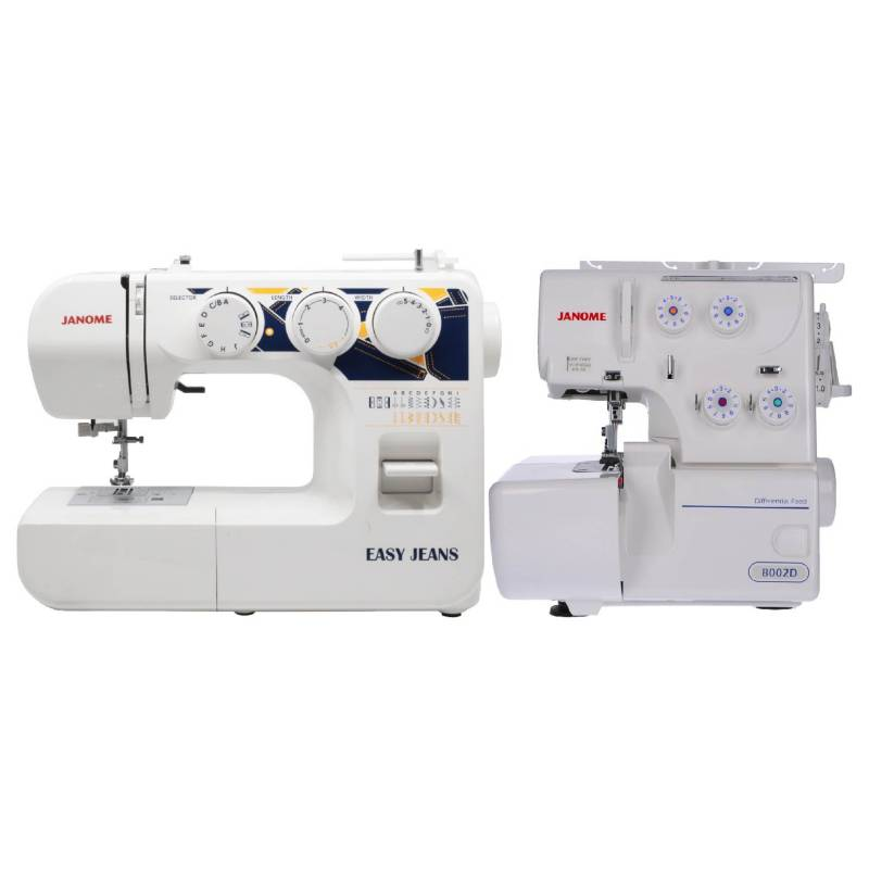 Janome - Combo Máquina EASY JEAN + 8002D