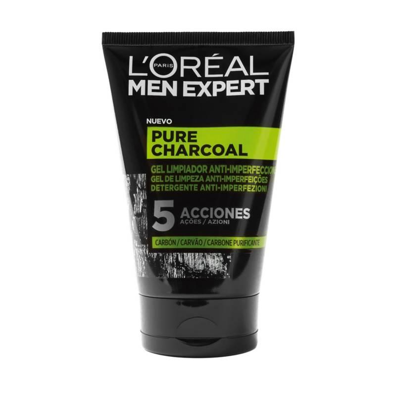 MEN EXPERT - Pure Charcoal 5 Acciones Gel Limpiador 100 ml