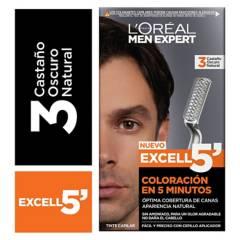 MEN EXPERT - Excell 5 Tono 3 Castaño Oscuro Natural