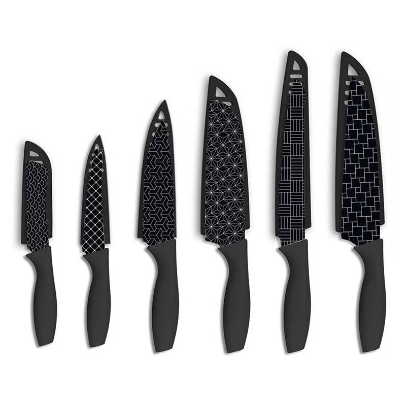 HAMPTON FORGE - Set 6 Cuchillos Geometric Black