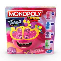 MONOPOLY - Juegos De Mesa Monopoly Junior Trolls 2 Gira Mundial