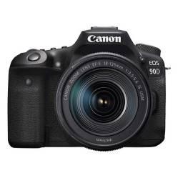 Camara Reflex 90D Digital con Lente Zoom 18-135 Is