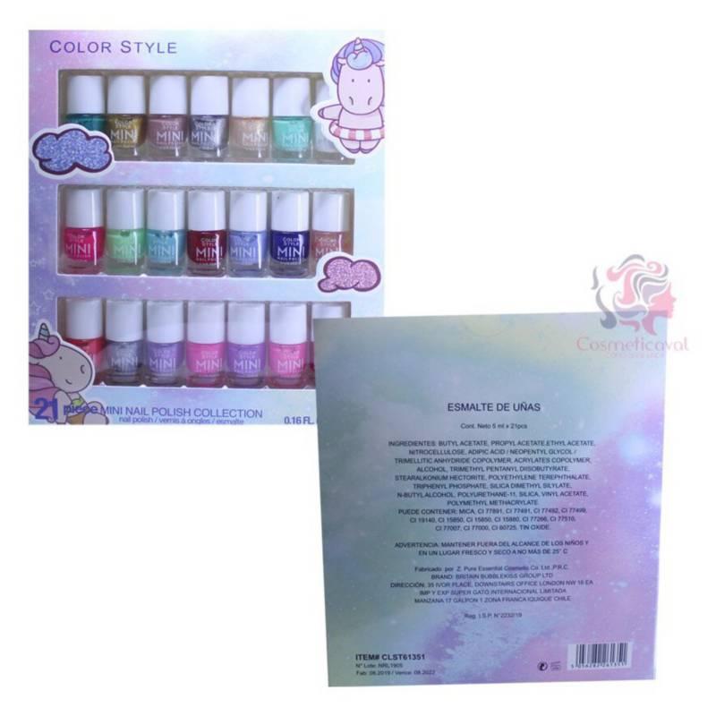Cosmeticav - Set 21 Esmaltes de Uñas Color Style